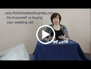 Video: Should you make your own veil or do it yourself (diy)? Here are pros and cons to consider, as well as value-priced products and supplies.