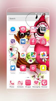 Pink Owl Theme - screenshot