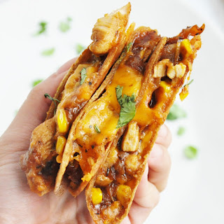 BBQ Chicken & Corn Quesadillas as featured on Good Morning America! (High Protein, High Fiber, 100% Whole Wheat).