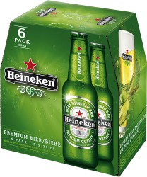 Heineken Beer - 330ml, 6 Pack