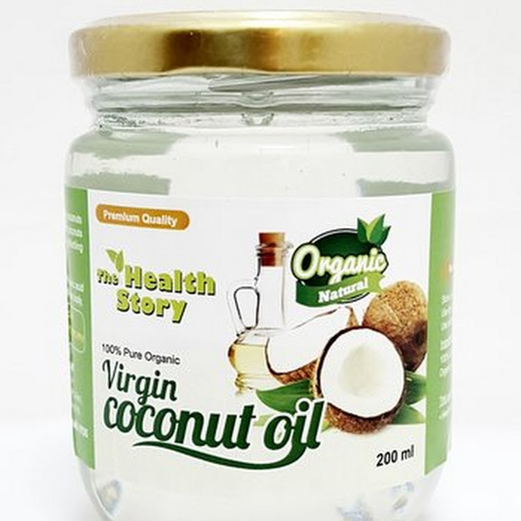 The Health Story Virgin Coconut Oil ( 200ml glass jar )