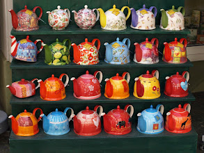 Photo: Taking a turn right into a little shopping courtyard, I found these delightful teapots on display - photo miltoncontact.com