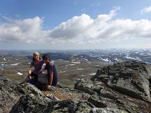 On the summit of Hårteigen