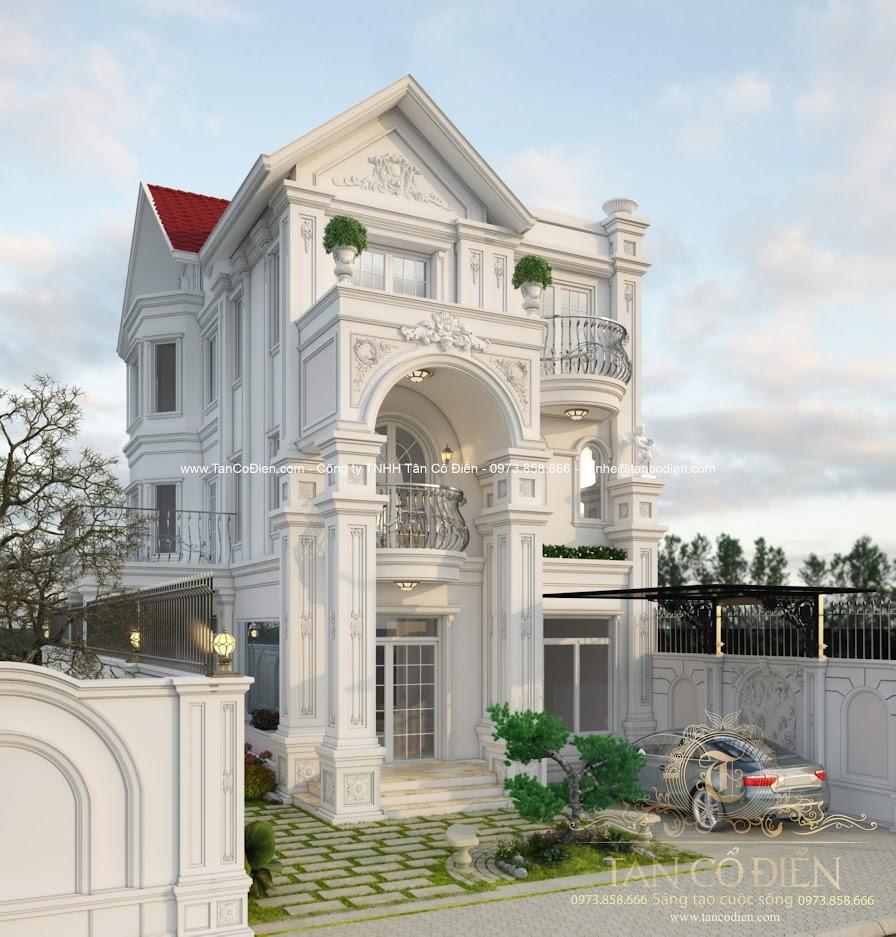 Hoàn thiện công trình biệt thự châu Âu tân cổ điển