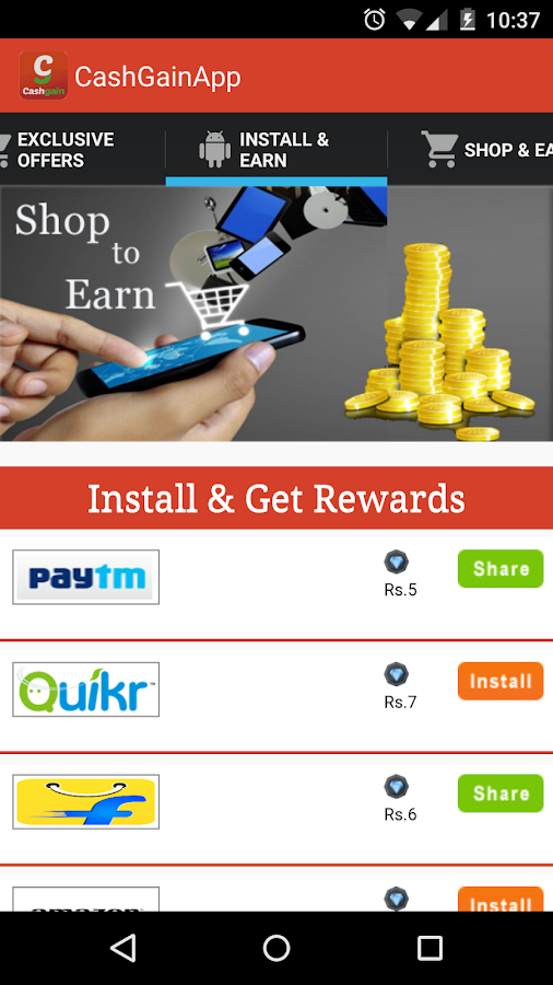 #CASH GAIN: Cash Back & Coupon- screenshot
