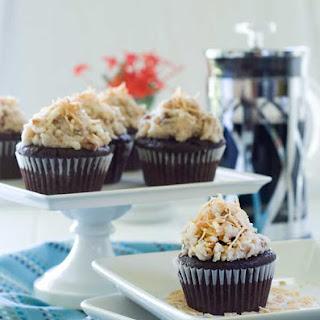 Gluten Free Vegan German Chocolate Cupcakes