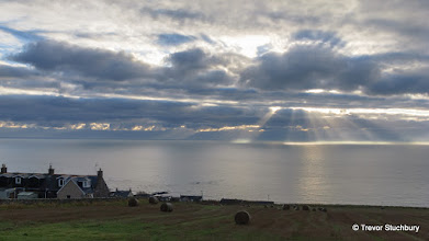 Photo: Dramatic lighting over the North Sea above Johnshaven