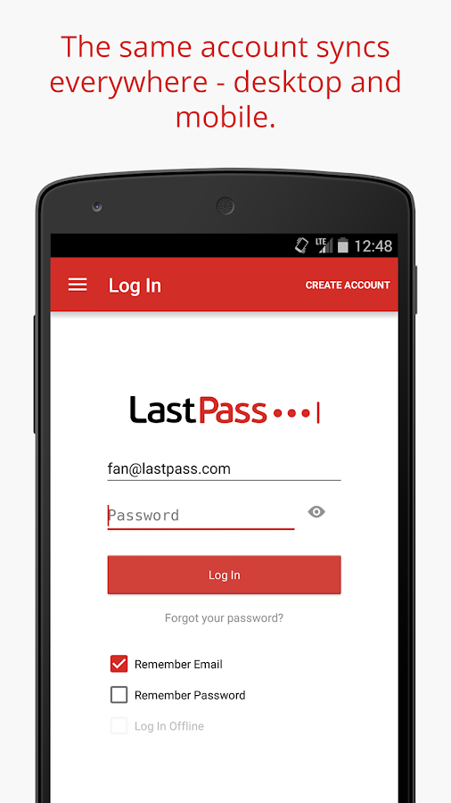 LastPass Password Mgr Premium*: screenshot