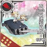 16inch三連装砲 Mk.7+GFCS