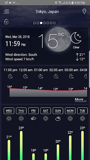 Weather Live Pro screenshot for Android