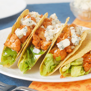 Buffalo Blue Cheese Cauliflower Tacos.