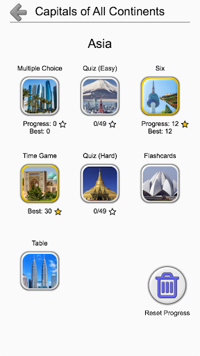 Capital Cities of World Continents: Geography Quiz 1.2 screenshots 3