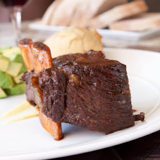 Slow Cooker Beefy Braised Short Ribs.