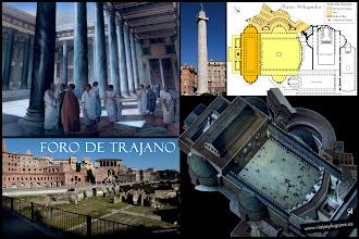 Photo: 5: El foro de Trajano es el mayor de todos los Foros Imperiales, un lugar polifuncional donde se atendía principalmente asuntos administrativos. Tenía la Basílica Ulpía y detrás de ella, la Columna Trajana, el Templo de Trajano y una plaza porticada.