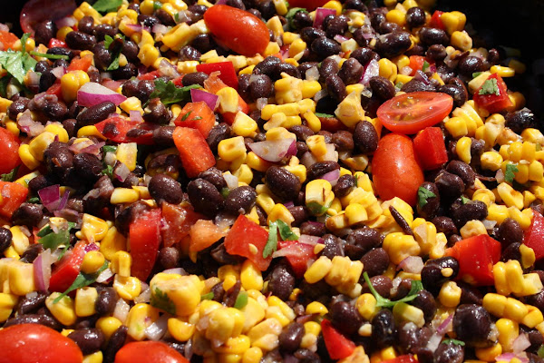 Grilled Corn & Black Bean Salad Recipe
