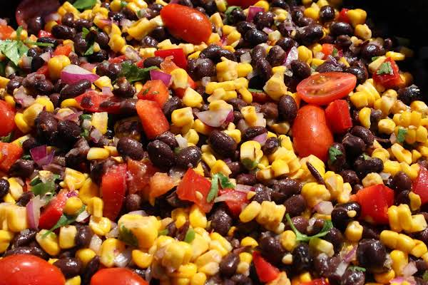 Grilled Corn & Black Bean Salad Recipe