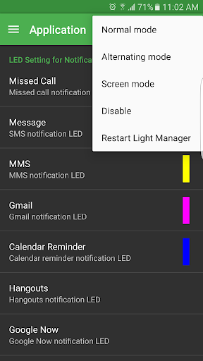 Light Manager - LED Settings  screenshots 1