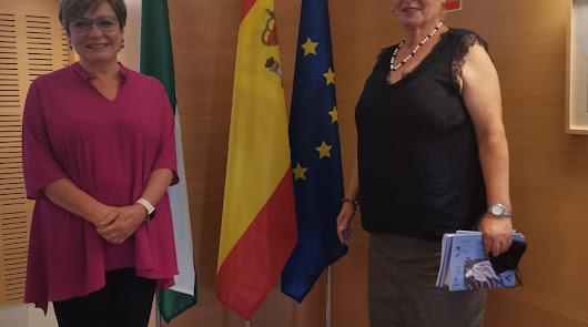 María José Navarro y Bibiana Montoya en la presentación del cuaderno.