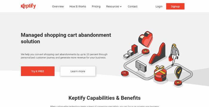 Using cart abandonment software