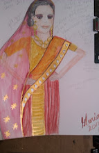 Photo: Bollywood Indian actress-sketch-ethnic -by-gloriapoole-16-Nov-2013