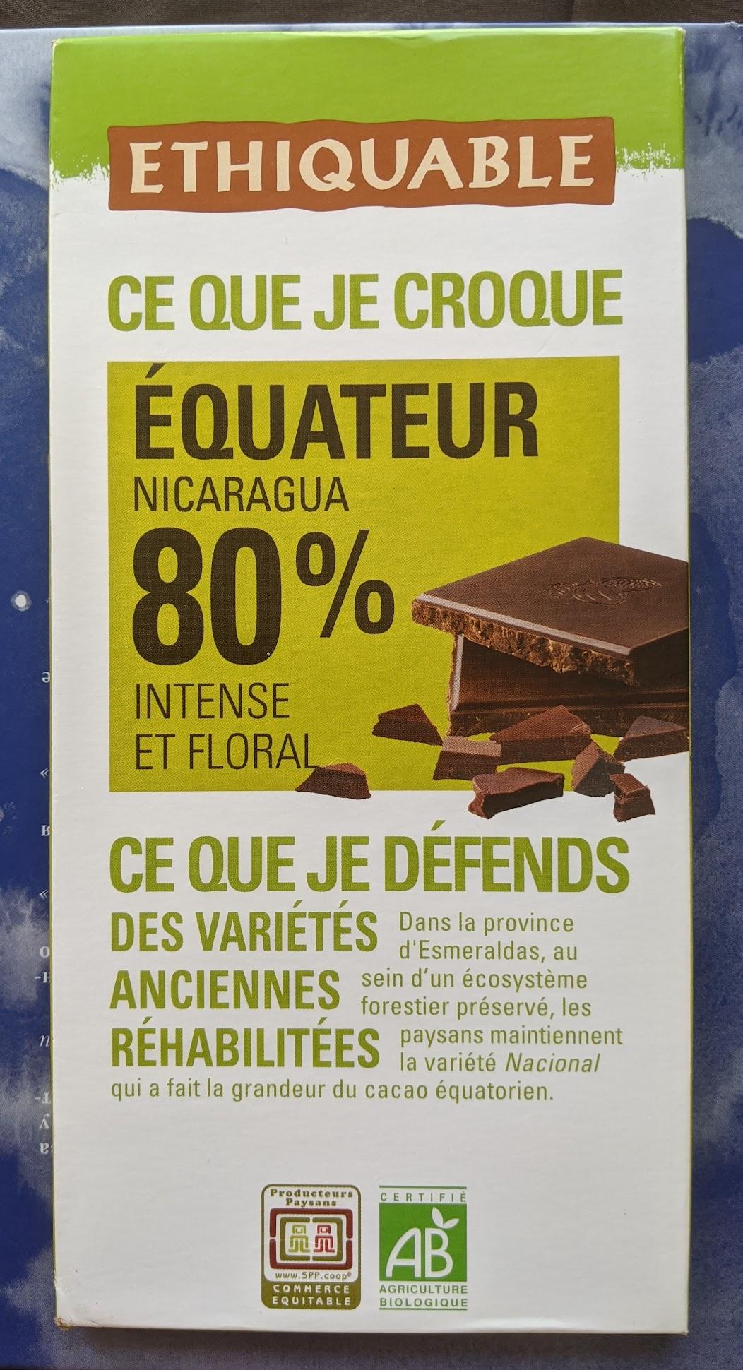 80% ethiquable bar