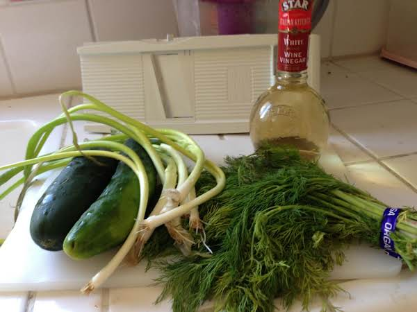 Ingredients For Cucumber Dill Salad