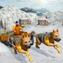 собачьих упряжках Транспорт 3D icon