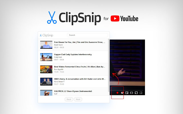 ClipSnip for YouTube™