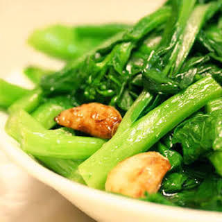 Chinese Greens (Yu Choy) Stir Fry.