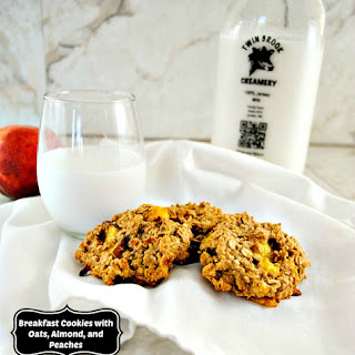 Naturally Sweetened Breakfast Cookies with Oats, Almond and Peaches