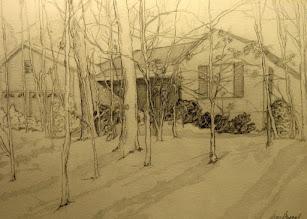 Photo: House Portrait . graphite . 20 x 16