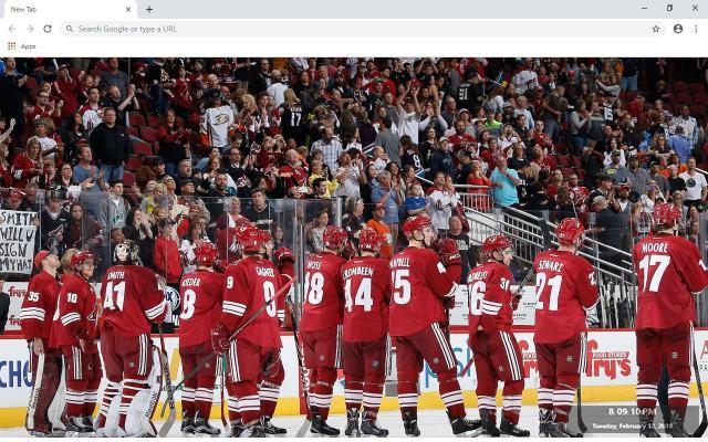 NHL Arizona Coyotes New Tab Theme
