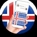 Iceland Flag Keyboard - Elegant Themes APK