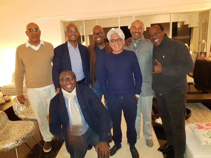 The late Bob Collymore with members of the 'boys club'.
