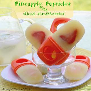 Pineapple Popsicles.
