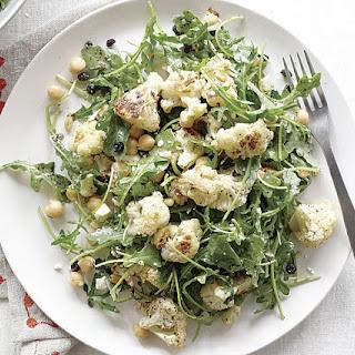 Roasted Cauliflower and Arugula Salad with Sumac Dressing