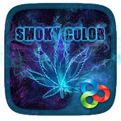 Smoky Color Parallax Go Launcher Theme