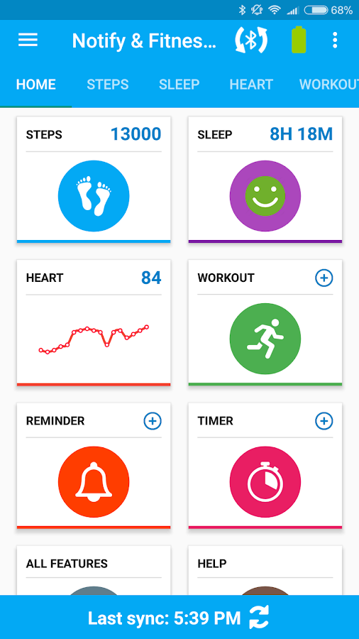 Notify & Fitness for Mi Band- screenshot