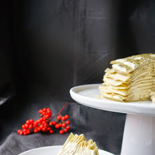 Green tea Crêpe Cake.