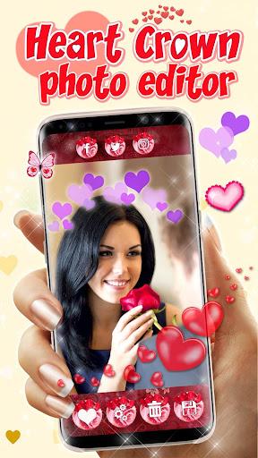 Heart Crown Photo Editor ? Selfie Camera App 1.3 screenshots 1