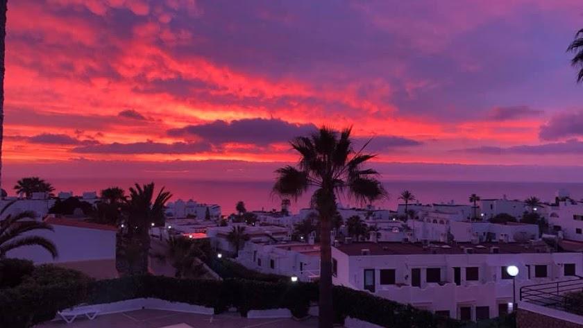 Imagen del amanecer tomada desde Mojácar por Gema Ruiz.