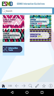 ESMO Interactive Guidelines- screenshot thumbnail