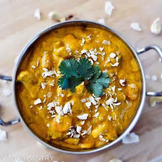 Vegetarian (Vegan) Navratan Korma –A Sweet and Mild Indian Curry.