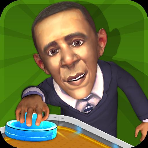 休闲のエアホッケースーパーバイザオバマ LOGO-記事Game