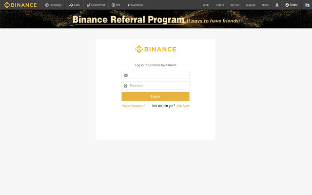 Binance Investment