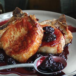 Pork Chops with Balsamic Cherry Sauce