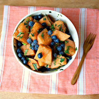 Basil & Mint Blueberry Melon Salad Recipe