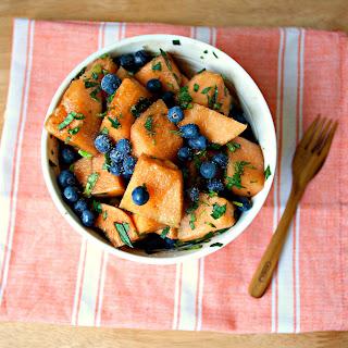 Basil & Mint Blueberry Melon Salad.