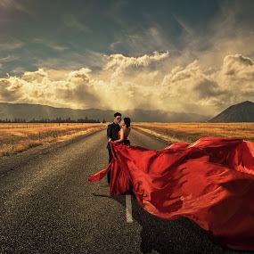 Red by Zhuo Ya - Wedding Bride & Groom ( zhuoya, prewedding, wedding, zhuoya photography, new zealand )