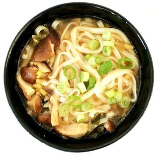 Japanese Udon Noodle Soup.